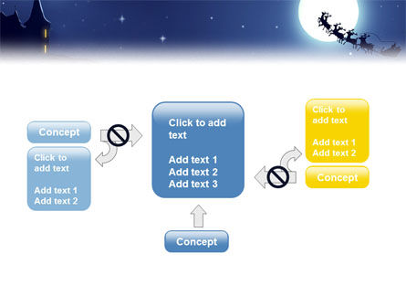 Santa's Sleigh On The Background Of The Moon PowerPoint Template Slide 13