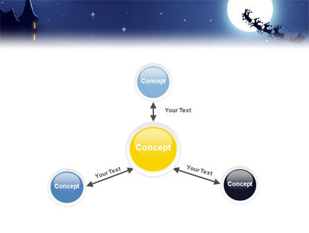 Santa's Sleigh On The Background Of The Moon PowerPoint Template Slide 14