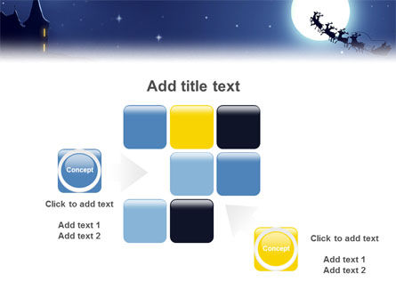 Santa's Sleigh On The Background Of The Moon PowerPoint Template Slide 16