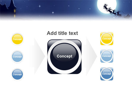 Santa's Sleigh On The Background Of The Moon PowerPoint Template Slide 17