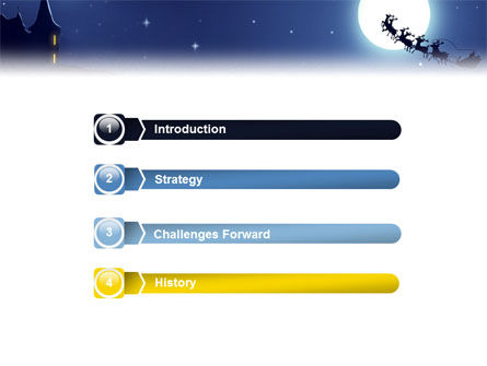 Santa's Sleigh On The Background Of The Moon PowerPoint Template Slide 3