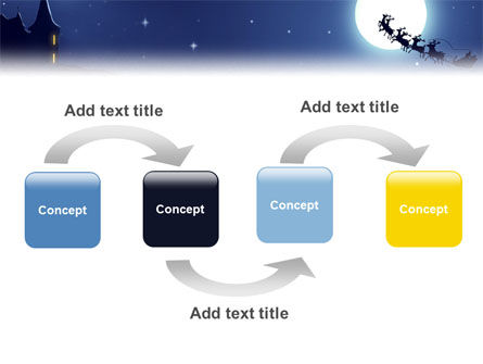 Santa's Sleigh On The Background Of The Moon PowerPoint Template Slide 4