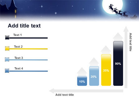 Santa's Sleigh On The Background Of The Moon PowerPoint Template Slide 8