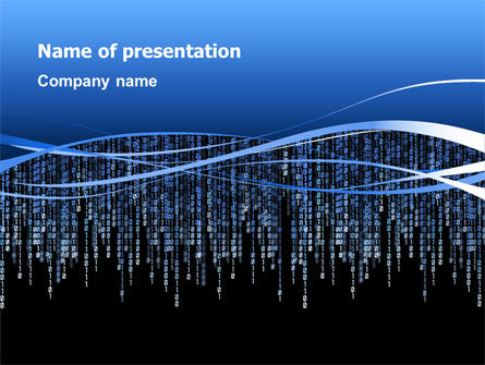 Matrix Theme PowerPoint Template, 02851, Technology and Science — PoweredTemplate.com