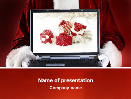 Christmas Presents Online PowerPoint Template, 02852, Holiday/Special Occasion — PoweredTemplate.com