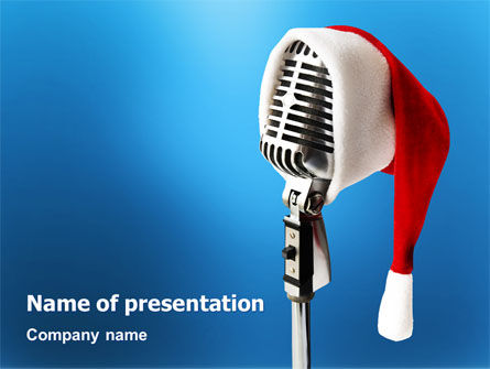 Holiday/Special Occasion: Christmas Songs PowerPoint Template #02853