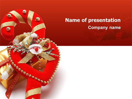 Holiday/Special Occasion: Christmas Candies PowerPoint Template #02854