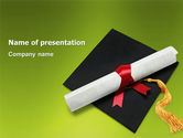 Education & Training: Certificate of Degree PowerPoint Template #02855