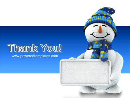Smiling Snowman PowerPoint Template Slide 20