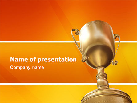 Award PowerPoint Template, 02858, Business Concepts — PoweredTemplate.com