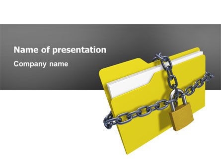 Secured Folder PowerPoint Template, 02859, Technology and Science — PoweredTemplate.com