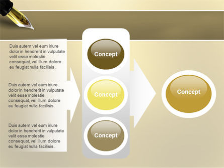 Fountain Pen On The Light Gold PowerPoint Template Slide 11