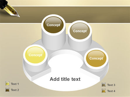 Fountain Pen On The Light Gold PowerPoint Template Slide 12