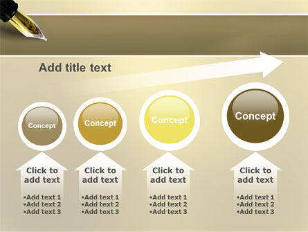 Fountain Pen On The Light Gold PowerPoint Template Slide 13
