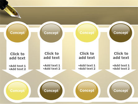 Fountain Pen On The Light Gold PowerPoint Template Slide 18