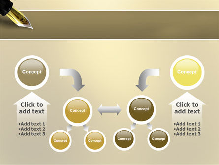 Fountain Pen On The Light Gold PowerPoint Template Slide 19