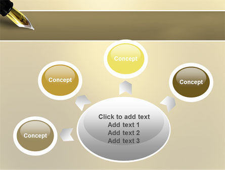Fountain Pen On The Light Gold PowerPoint Template Slide 7