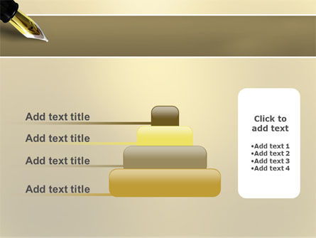 Fountain Pen On The Light Gold PowerPoint Template Slide 8