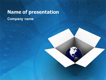Global: Globe In De Doos PowerPoint Template #02864