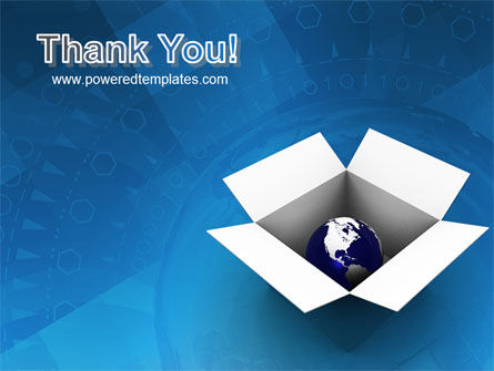 Globe In The Box PowerPoint Template Slide 20