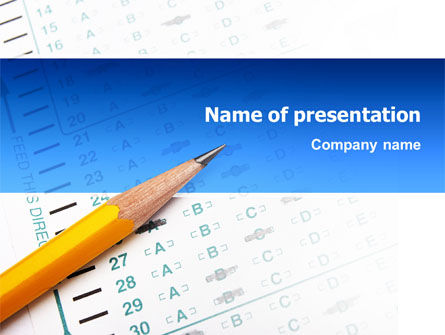 Educational And Psychological Test PowerPoint Template, 02870, Education & Training — PoweredTemplate.com