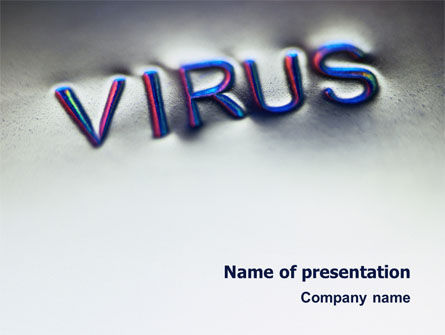 Medical: Virus Sign PowerPoint Template #02875