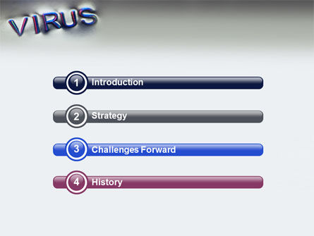 Virus Sign PowerPoint Template, Slide 3, 02875, Medical — PoweredTemplate.com