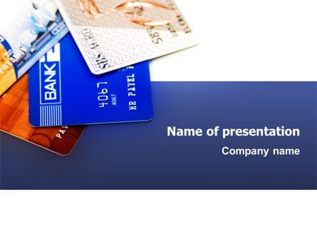 Financial/Accounting: Credit Cards PowerPoint Template #02877