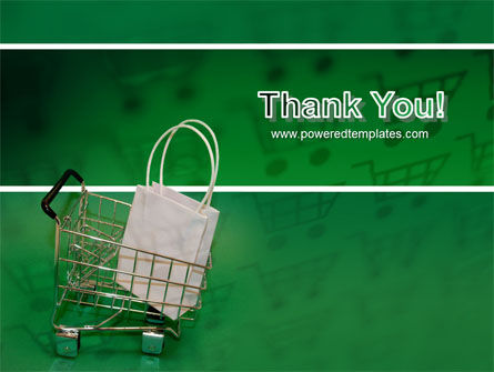 Shopping Cart With White Bag PowerPoint Template Slide 20