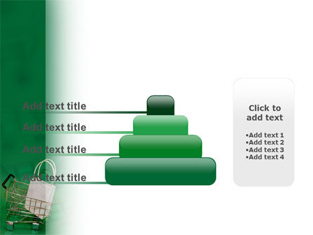Shopping Cart With White Bag PowerPoint Template Slide 8