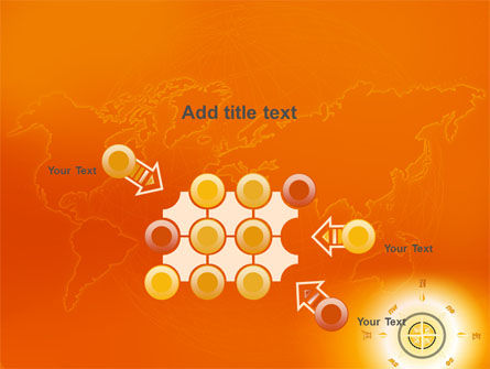 Wind Rose In Orange Color PowerPoint Template Slide 10