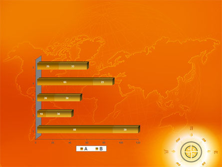Wind Rose In Orange Color PowerPoint Template Slide 11