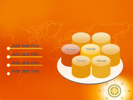 Wind Rose In Orange Color PowerPoint Template Slide 12