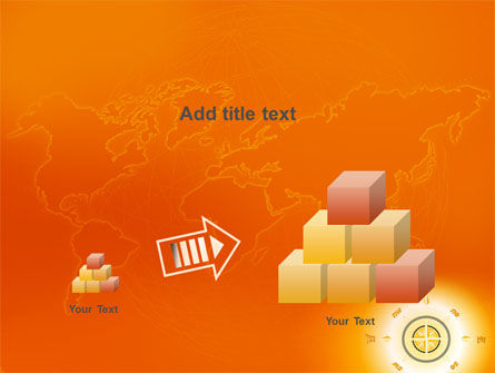 Wind Rose In Orange Color PowerPoint Template Slide 13