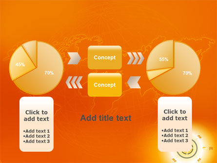 Wind Rose In Orange Color PowerPoint Template Slide 16