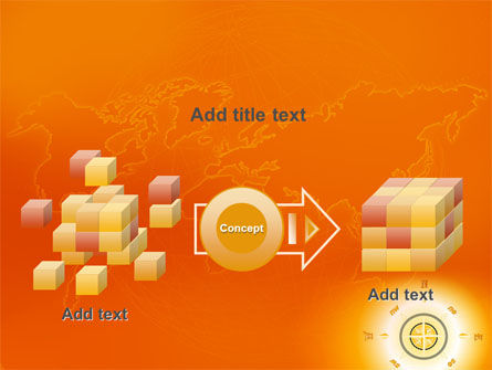 Wind Rose In Orange Color PowerPoint Template Slide 17