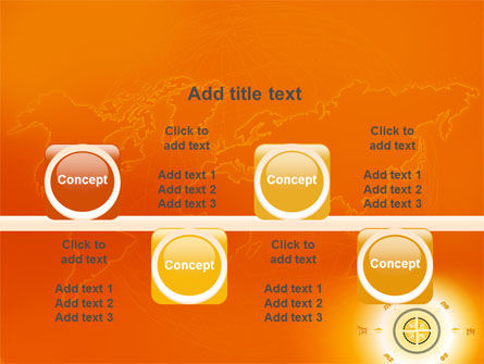 Wind Rose In Orange Color PowerPoint Template Slide 18