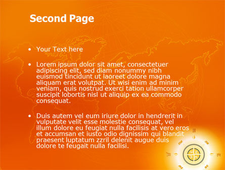 Wind Rose In Orange Color PowerPoint Template Slide 2