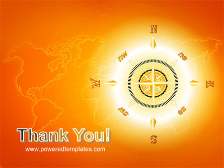 Wind Rose In Orange Color PowerPoint Template Slide 20