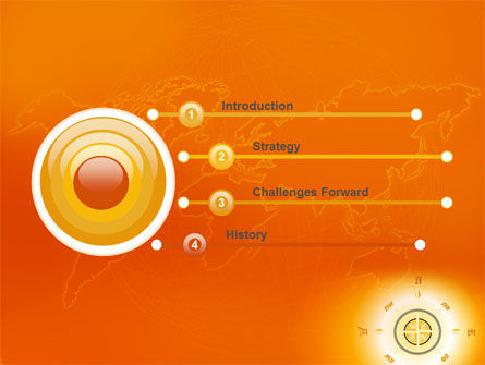 Wind Rose In Orange Color PowerPoint Template Slide 3