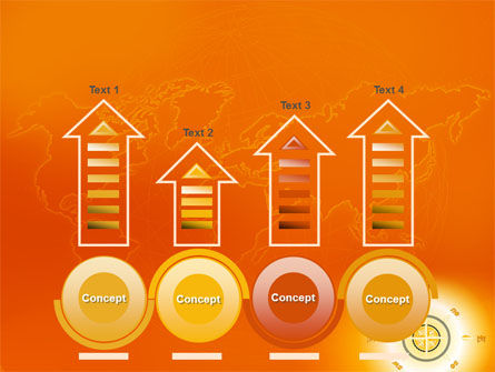Wind Rose In Orange Color PowerPoint Template Slide 7