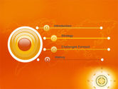 Wind Rose In Orange Color PowerPoint Template#3