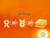 Wind Rose In Orange Color PowerPoint Template#9