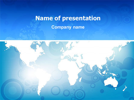 Global: Wereldkaart PowerPoint Template #02881