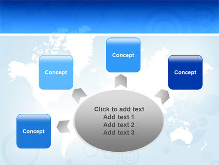 World Map PowerPoint Template Slide 7