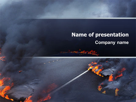 Disaster PowerPoint Template, 02882, Nature & Environment — PoweredTemplate.com