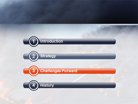 Disaster PowerPoint Template, Slide 3, 02882, Nature & Environment — PoweredTemplate.com