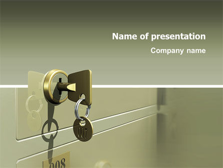 Business Concepts: Locker PowerPoint Template #02883