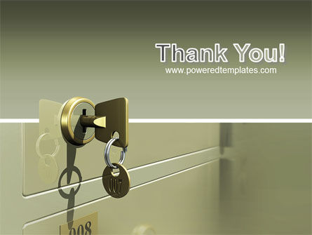 Locker PowerPoint Template Slide 20