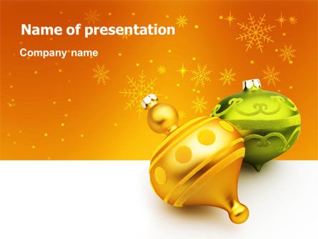 Holiday/Special Occasion: Decorations Of New Year PowerPoint Template #02886